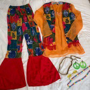 7 pcs Hippie Halloween Costume Adult Women size M